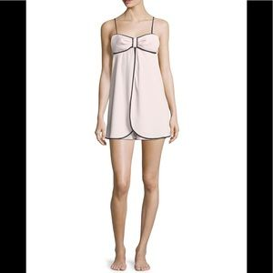 NWT KATE SPADE PINK BOW CHEMISE SIZE LARGE